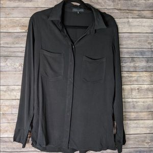 Sanctuary Solid Black Long Sleeve Small Shirt